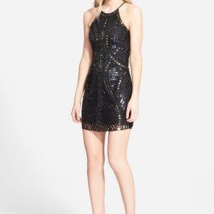 Parker Jaden Sequin Open Back Dress Size M